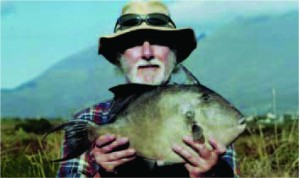 IRISH RECORD TRIGGER FISH: Bob Moss, Ballydavid, Co. Kerry with the new Irish Record Trigger Fish of 2.54 kg taken off Slea Head, Co. Kerry on 7th August 2006